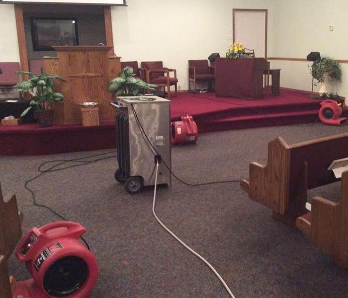 Church Cleanup After Flood